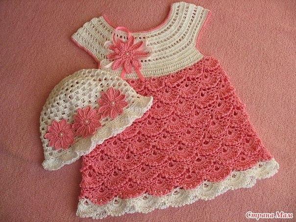 Детское платье и панамка (2 фото) - картинка