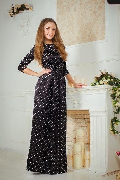 Платье в горошек видео
