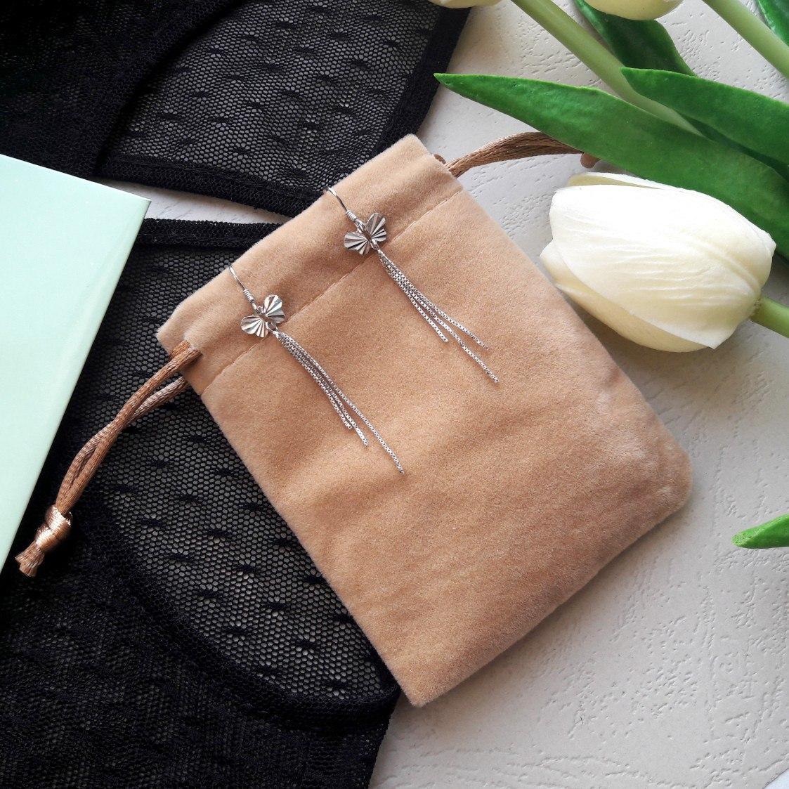 Серебряные серьги-бабочки из магазина Rinntin S925 Silver Jewels Store