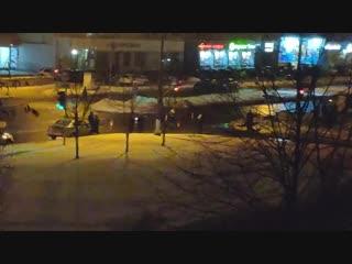 В полоцке на богдановича pontiac насмерть сбил пешеход.