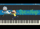 Rick and Morty - Theme Song Piano Tutorial