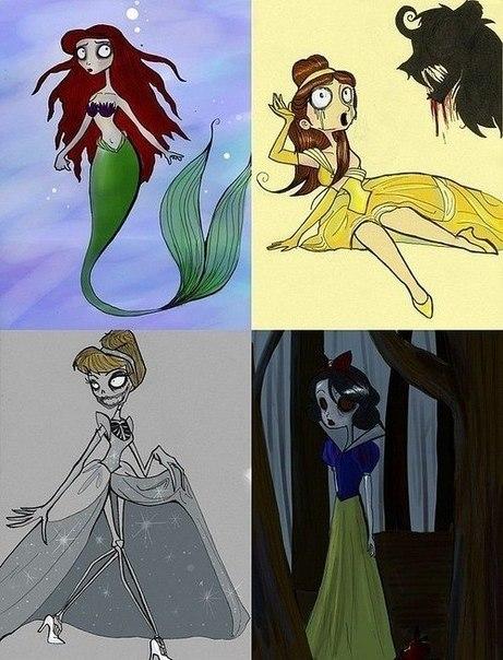 Принцессы в стиле тима бертона