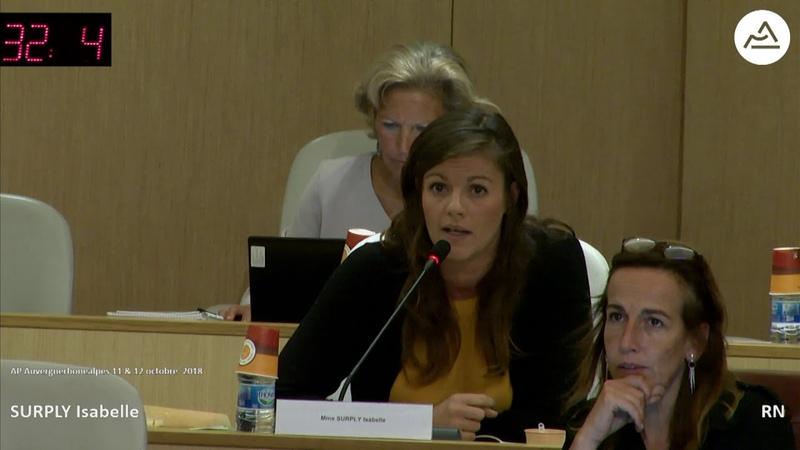 Isabelle Surply (RN) contre le soutien régional à l'association REMERA
