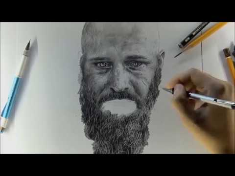 ART Vikings Ragnar Lothbrok Pencils DRAWING рисунок