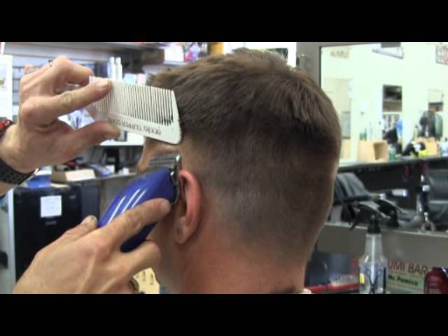 Fade on Michael's hair w/ Clippers cut Part 1 video