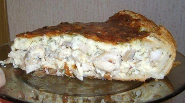 Вкуснейший пирог Ингредиенты: -400 гр. куриного мяса (грудки). -1 банка