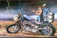 ...самым известным и популярным художником, рисующим на байкерскую тему.