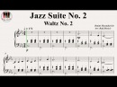 The Second Waltz Op 99 Jazz Suite No 2 Dmitri Shostakovich Дми́трий Шостако́вич вальс 2