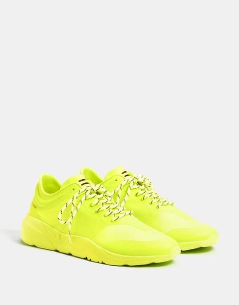 Мужские кроссовки неонового цвета