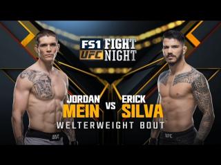 UFC FIGHT NIGHT WINNIPEG Jordan Mein vs Erick Silva