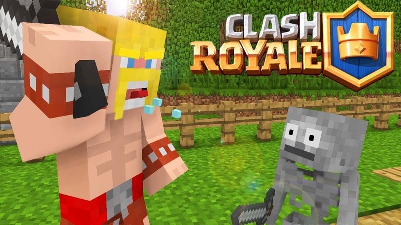 Steve VS Herobrine Fighting Clash Royale Minecraft animation