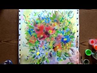 Быстрое Рисование | Холодный Батик | Летние Цветы