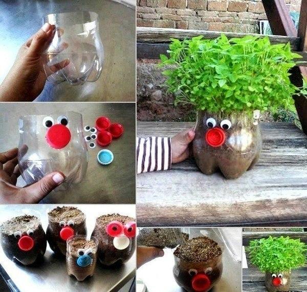 Креативные горшочки для зелёнки.