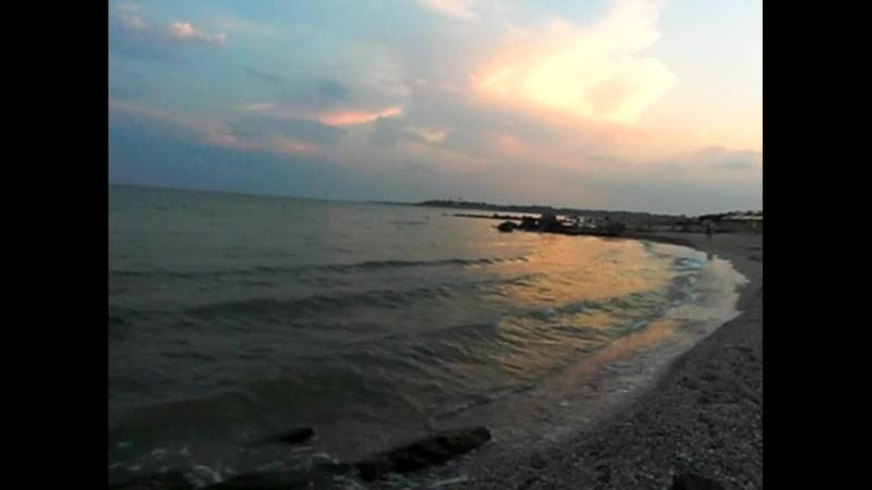 Рожевий захід над морем. Із власних спостережень