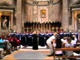 Хор УлГУ: исполнение в Пантеоне (Рим, Италия)