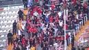 Los sevillistas celebran el gol de Sarabia en Mestalla