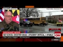 """Republican Gov. Larry Hogan following the shooting at a Maryland high school that injured two students """"It's tragic. Our hearts"""