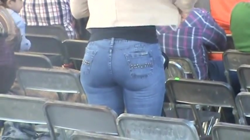 Ass in the jeans at the stadium