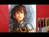 how to draw Hiccup from how to train your dragon 2