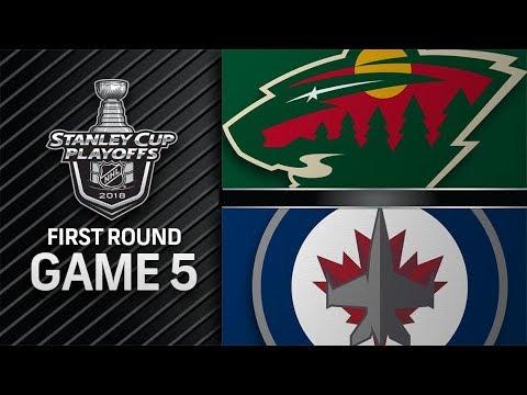 Minnesota Wild vs Winnipeg Jets – Apr. 19, 2018 | Game 5 | Stanley Cup 2018. Обзор
