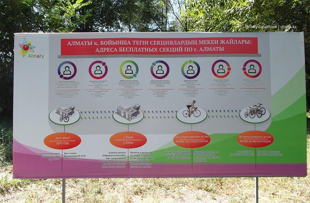 Бесплатные велосекции Алматы 2018 Центральный парк