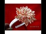 Flores dalias hermosas de colores en diademas doble diseño en ci