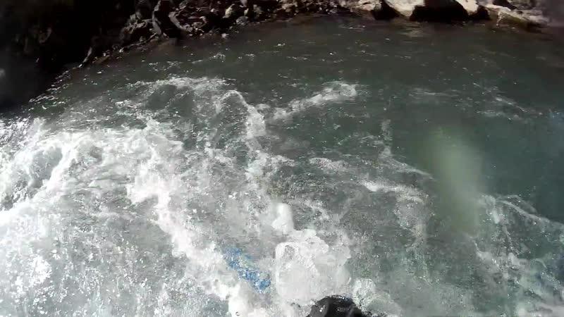 Кавказ октябрь 2018 сплав на каяках низкая вода Franchir г.Тверь
