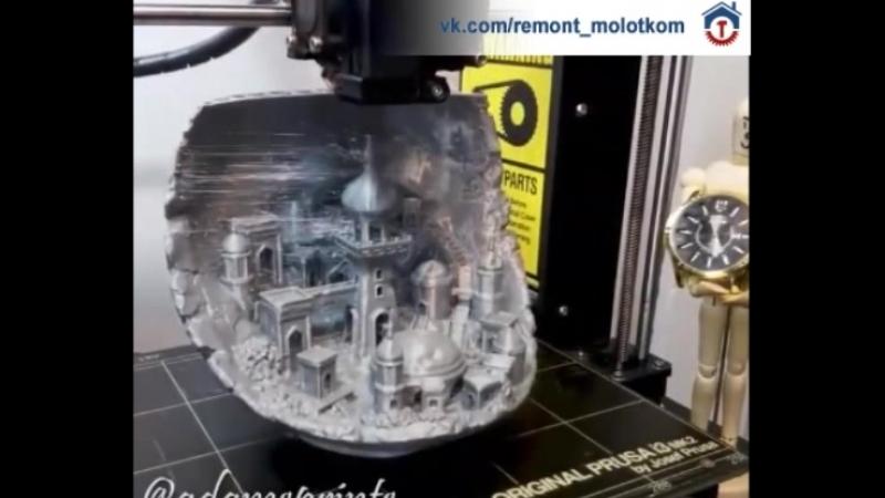Работа 3D принтера 😳