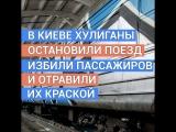 В Киеве хулиганы напали на электричку