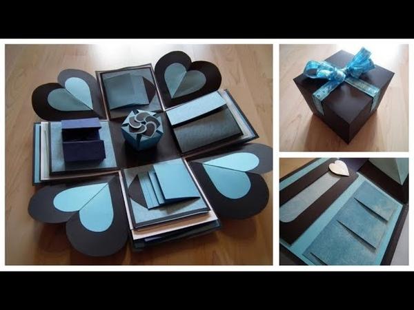 Black-Blue-White Explosion BOX by KriKas