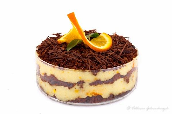 Шоколадно-апельсиновый десерт. Это очень яркий, свежий, легкий десерт