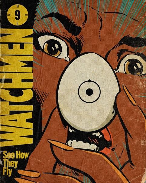 Как всегда крутые арт-постеры от Butcher Billy для каждого эпизода сериала «Хранители»