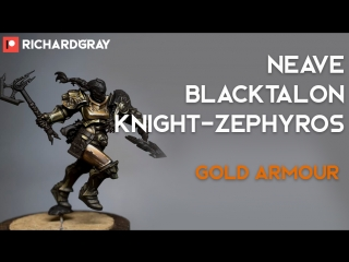 Richard Gray - Sigmarite Stormcast Eternal Neave Blacktalon. Gold Armour