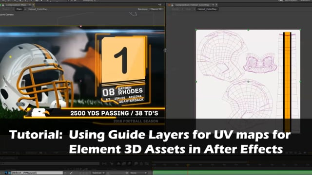 Tutorial Quicktip Using Guide Layers on UV Maps for Element 3d assets in After Effects