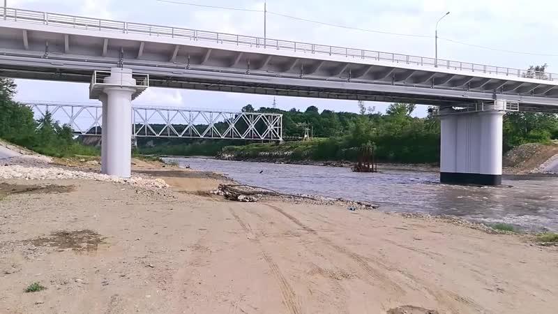 Мост через Белую на въезде в Белореченск