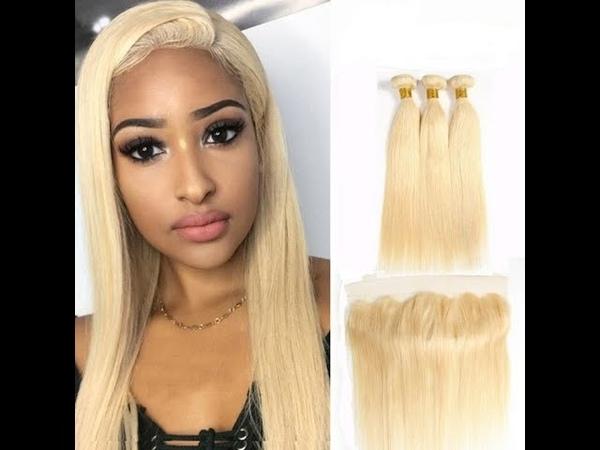 Virgin Cuticle Aligned Hair 613 Eurasian Hair Extension Straight Human Blonde Russian Hair