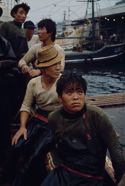 Серия фотографий с рыбаками из Токио, 1964 год.