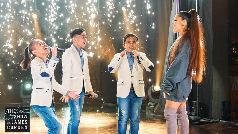 Ariana Grande Surprises TNT Boys f The Worlds Best