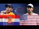 Borna Coric CRO vs Steve Johnson USA Highlights DAVIS CUP 2018
