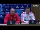 Черчесов и Дзюба проводят пресс-конференцию перед матчем со Швецией