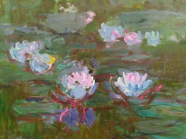 Клод Моне - «Кувшинки» («Водяные лилии») В 1896-1906 годах Моне расширяет свои владения. Он изменяет русло реки и расширяет пруд. Река проходит по земле художника и огибает сад, образуя