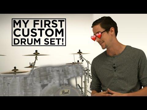 MY FIRST CUSTOM DRUM SET! - FULL TOUR! Pearl Music City Custom!