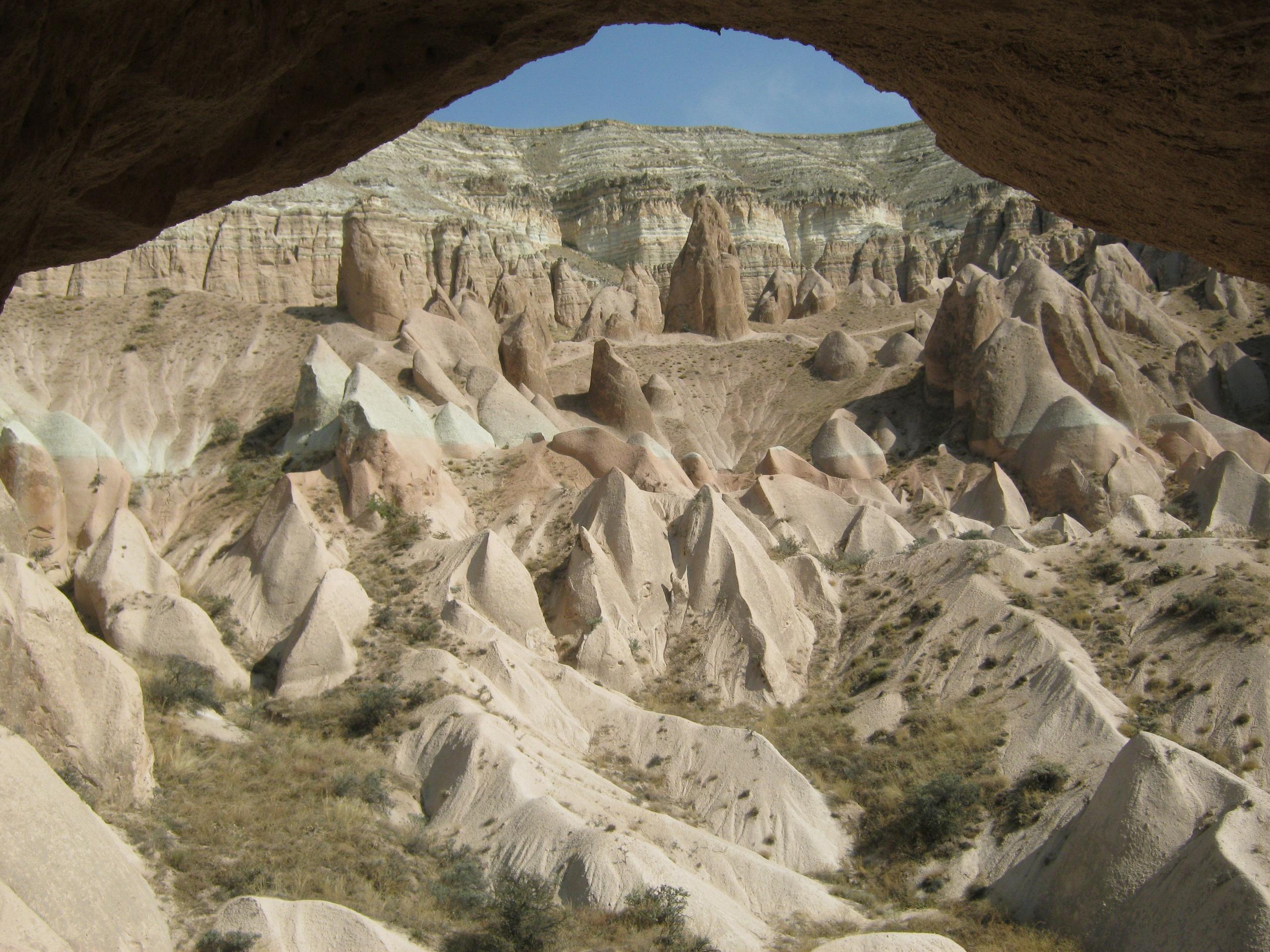 из окна пещерной церкви в Каппадокии