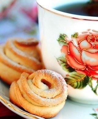 """Печенье """"Творожные цветочки"""""""