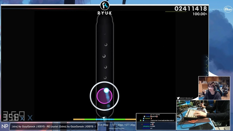 Osu!   RyuK   IOSYS - REUsatei [Extra] HD,DT 99.75 677pp 1   Livestream!