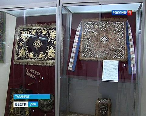 В Таганроге в литературном музее имени Чехова открылась выставка «Золотошвейное дело в России»