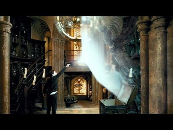Гарри в первый раз использует заклинание Патронуса Гарри Поттер и узник Азкабана