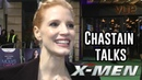 Jessica Chastain on X Men Role Molly's Game London Premiere Interview