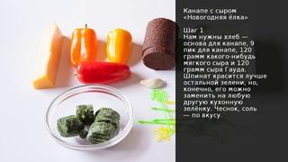 Канапе с сыром Новогодняя ёлка . Рецепт от шеф-повара Максима Григорьева