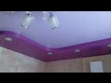 Двухуровневый натяжной потолок на кухне 6 кв.м. #нашаработа